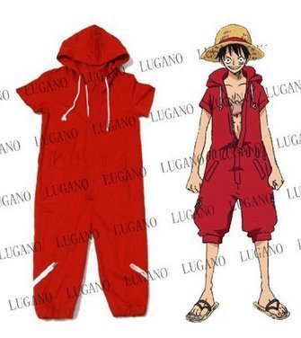 ONE PIECE cosplay costume One Piece Monkey D Luffy, Monkey D Luffy coverall costume size L (japan import)