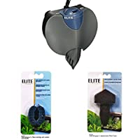 Suitable for aquariums up to 25 litres 120 Litres per hour Elite Stingray 5 Carbon Media Combines ultragrade carbon and ammonia that removes zeolite in one cartridge Elite Stringray 5 Filter Foam Pad Change one every 2 weeks for crystal clear water.