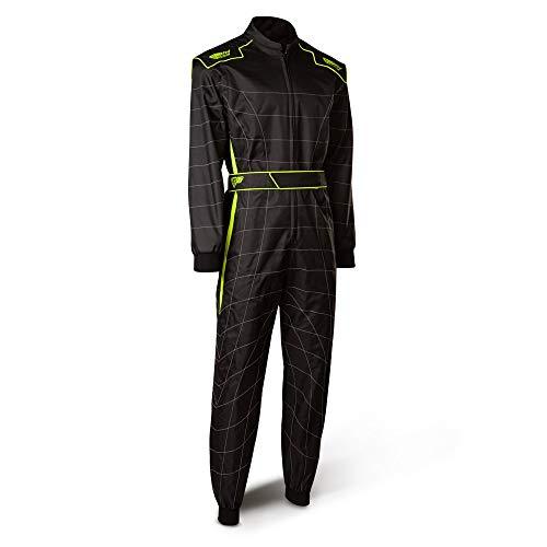 Speed Racewear Cordura Atlanta CS-2 Overall - Hochwertiger Kartoverall - schwarz/neongelb (S)
