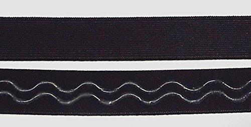 Großhandel für Schneiderbedarf 3 m Gummiband mit Silikon Beschichtung 17 mm schwarz Welle 3,09 €/m