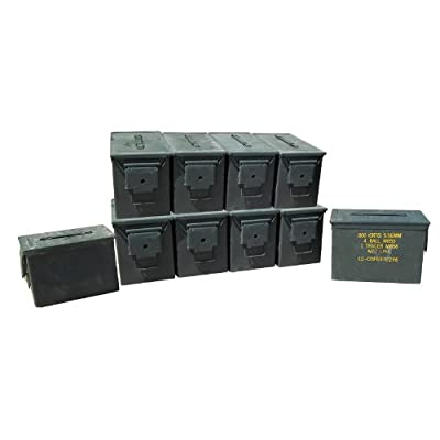U.S. Military Fat 50 Cal Ammo Can Grade 1 (10 Pack)
