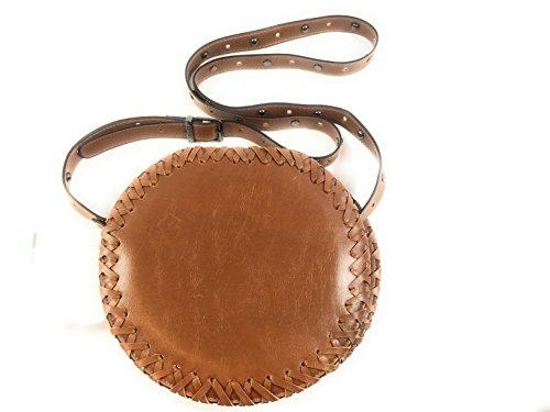 Circus by Sam Edelman Womens Mercer Faux Leather Crossbody Handbag Brown Small