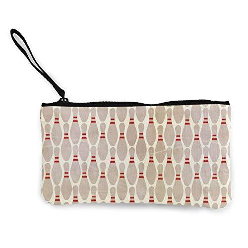Bowling-Pins Kosmetiktasche mit Handschlaufe Reißverschluss Wechselgeldbörse Geschenk für Frauen