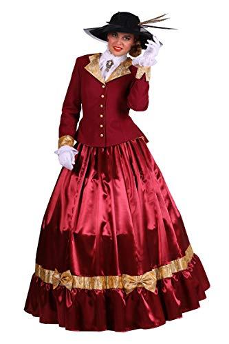 Thetru Damen Kostüm Biedermeier Südstaaten Lady Karneval Fasching Gr.L