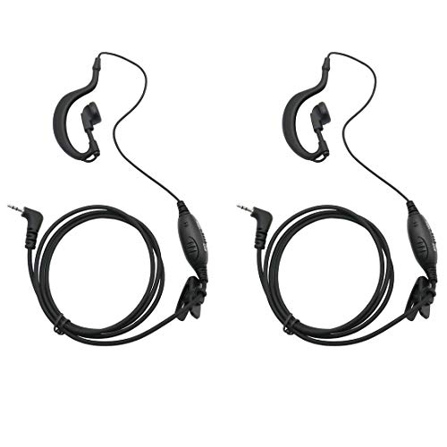 GoodQbuy 2pcs Clip Ear Headset/Earpiece Mic for Uniden GMR 2 Two Way Radio Walkie Talkie