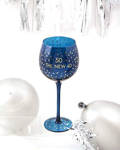 Boxer Gifts GWO750 Verre à vin 50e anniversaire   Belle verrerie de fête   Cadeau