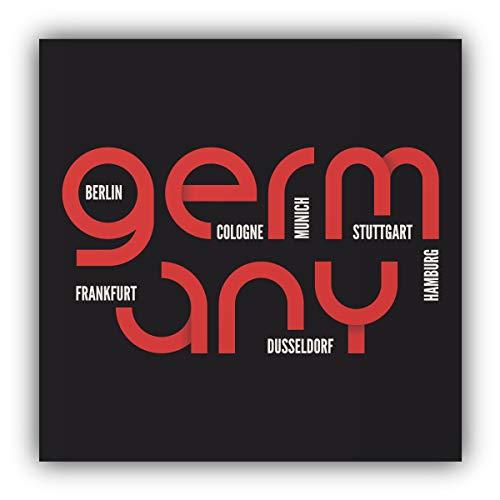 Duitsland Steden Slogan - Zelfklevende Sticker Auto Window Bumper Vinyl Decal