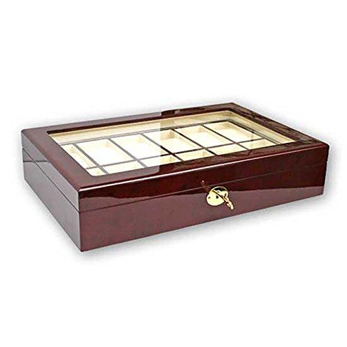 Uhrenhuette Holzkassette Klavierlack für 12 Uhren