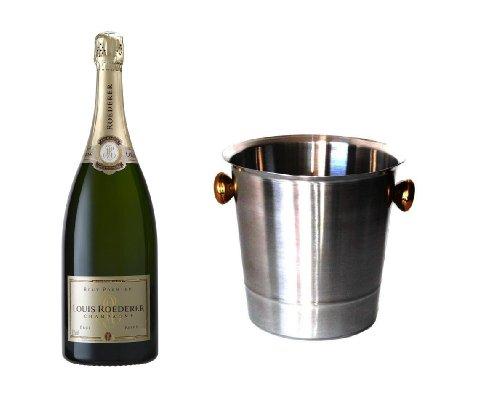 Louis Roederer Champagner Premier Brut im Champagner Kühler 12% 0,75l Fl.