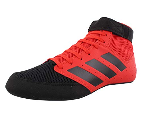 adidas Men's Mat Hog 2.0 Wrestling Shoe, Red/Black/White, 12.5