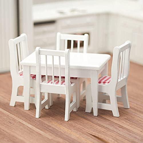 Superlatite factorydirectcraft White Translated Kitchen Table Set - Miniatur House Doll