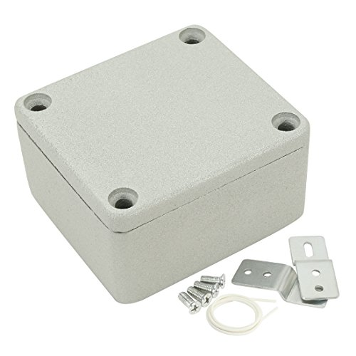 uxcell 2.5x2.3x1.4(64mmx58mmx35mm) Aluminum Junction Boxes General Electrical Metal Project Enclosure Waterproof IP65, Abrasion Resistant, Good Heat Dissipation for Outdoor