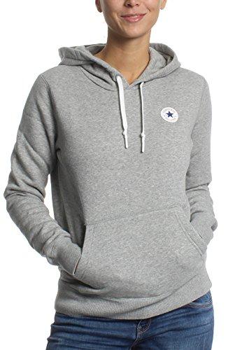Converse Sweater Damen CORE Hoodie 10004543 Hellgrau 035, Größe:L