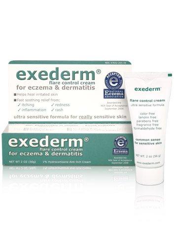 Exederm Ultra Hypoallergenic Eczema Dermatitis Flare Control Cream, NEA Accepted (2 oz tube)