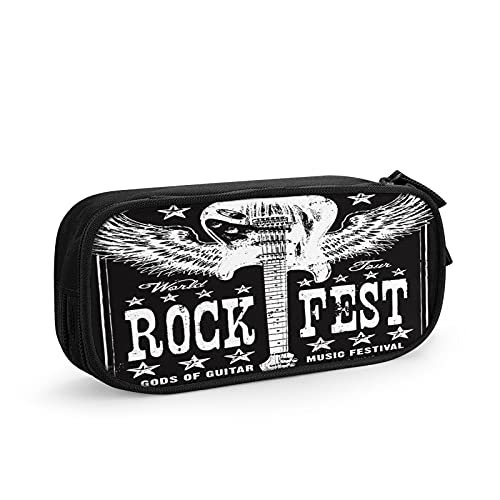 Musica rock per chitarra Astuccio Grande Capacità Astuccio Multifunzione Con 2 Cerniera Scomparti per Ragazzo e Ragazza