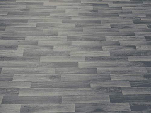 PVC Bodenbelag in klassischem Holz, grau (9,95€/m²), Zuschnitt (2m breit, 5m lang)