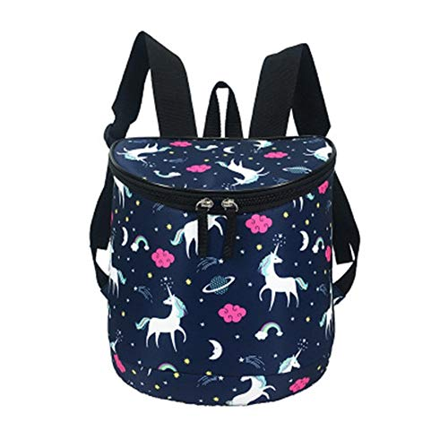 YAG Oxford Cloth Various Patterns Lunch Bag Outdoor Picnic Bag Portable Cooler Bag Lunch Box 9.9 (Color : A, Size : 26.5 * 15.5 * 27cm)