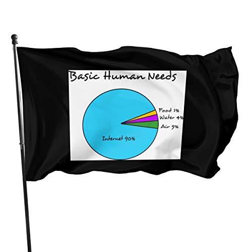 Generic Brands Witzige Fahne für menschliche Bedürfnisse (90% Internet), 91 x 152 cm