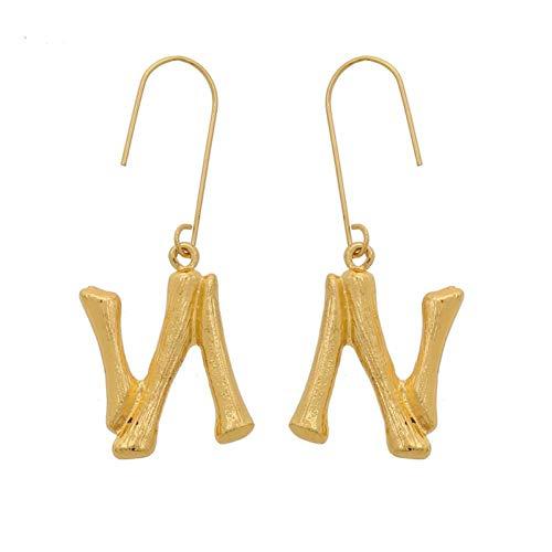 AIERSHI metalen beginletter oorbellen vrouwen punk etnische oorbellen elegante bruiloft druppels lange hangende oorbellen
