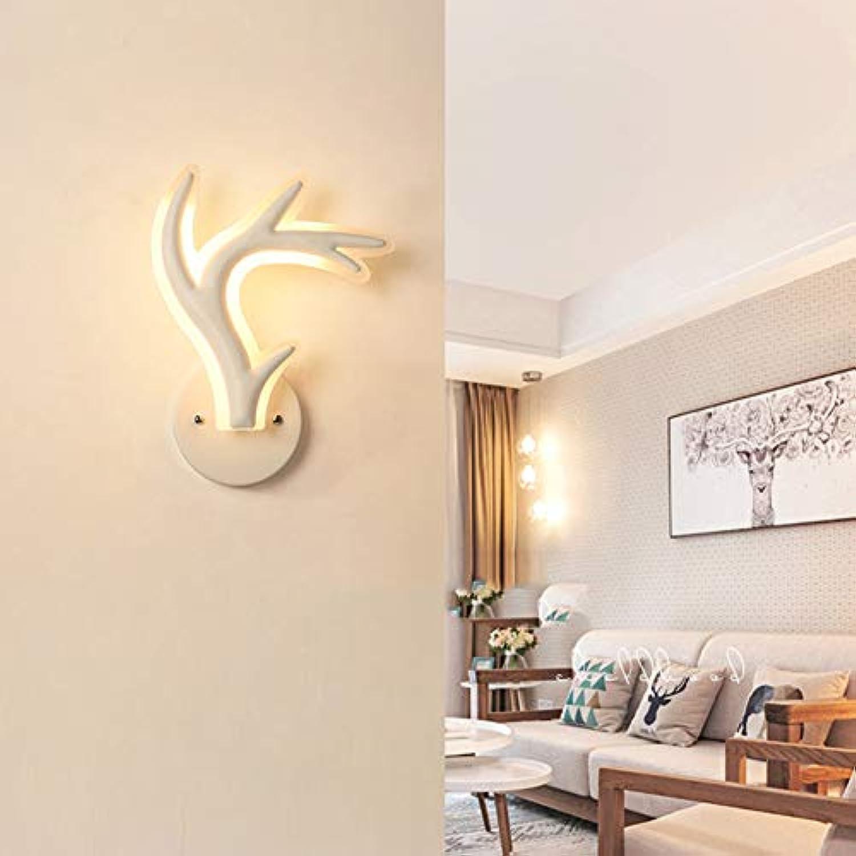 FCX-LIGHT Kreative LED Wandleuchte Innen wandlampe Moderne LED Streifen Minimalistische Kunst Dekoration für Schlafzimmer Wohnzimmer Cafe Korridor,Weiß,A