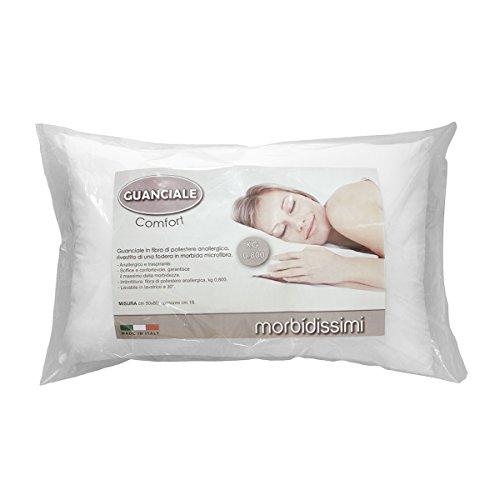 Guanciale Morbidissimi mod. Comfort anallergico traspirante 50x80 cm 800 gr N600