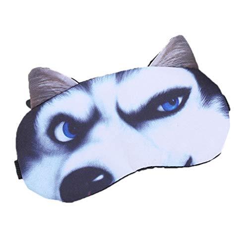 ecmqs máscara para los ojos – 3d calavera Animal dibujo a