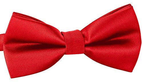 BomGuard rote herren-fliege leicht-gestreift schleife damen frauen männer mann hund katze weihnachten mann gebunden rot