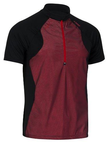 Rono t-Shirt pour Homme Polo pour Homme à col Montant zippé x Small Noir - Noir