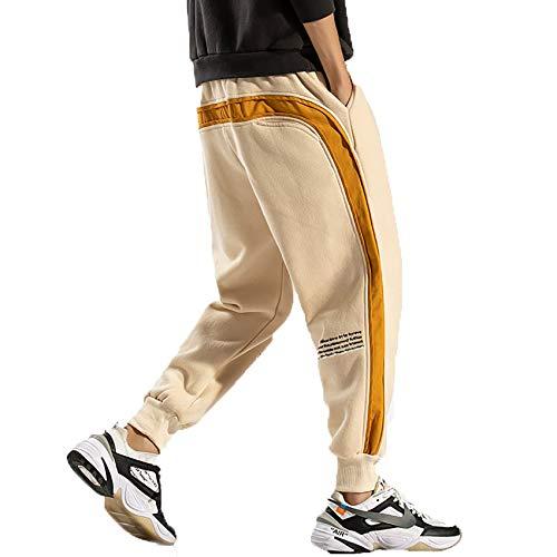 Pantalones De CháNdal Ajustados De Primavera Y OtoñO con Rayas Laterales para Hombre Pantalones Deportivos Nuevos De Costura para Hombre Pantalones De HaréN De Hip Hop De Moda Callejera