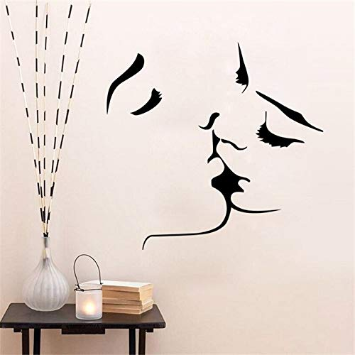 yaonuli Pegatina Impermeable extraíble Personalidad Creativa Besos Etiqueta de la Pared Sala de Estar Dormitorio decoración de la Pared Pegatina 109x75cm