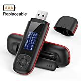 AGPTEK 8GB Tragbare USB MP3 Player 1 Zoll LCD Display USB Stick mit