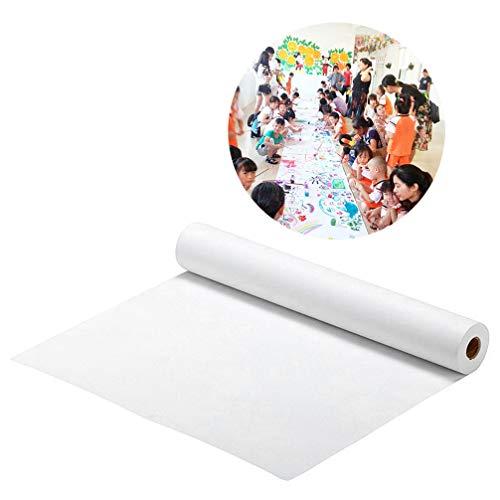 STOBOK Zeichnen Papier rolle | Weiße Kunst Handwerk Papier,45CM x 545CM ideal für Farben,Wandkunst,Easel Papier,fadeless Bulletin Board Papier,Malerei Papier,Geschenkverpackung Papier,Kraft Papier