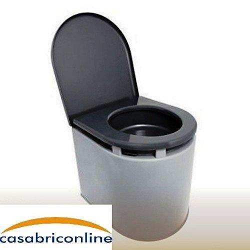 Giganplast WC Chimico Camper, 41x36x38 cm, 12 litri, portata 120 kg, Grigio