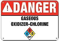 危険ガス状酸化剤-塩素活動標識プール標識アルミニウム金属標識