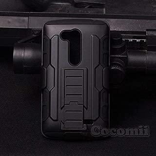 Cocomii Robot Armor LG L Fino/G2 Lite Case New [Heavy Duty] Premium Belt Clip Holster Kickstand Shockproof Hard Bumper [Military Defender] Full Body Dual Layer Rugged Cover for LG L Fino (R.Black)