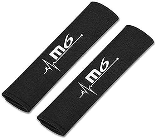 KYQYLL 2 Piezas con Auto Logo Almohadillas ProteccióN CinturóN Seguridad para Mazda 6, CinturóN de Seguridad Correa Hombreras Coche Interior DecoracióN Accesorios