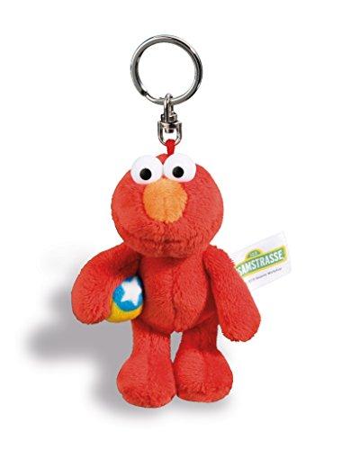 NICI 41961 Monster Elmo Sesamstraße Schlüsselanhänger, rot, 10 cm