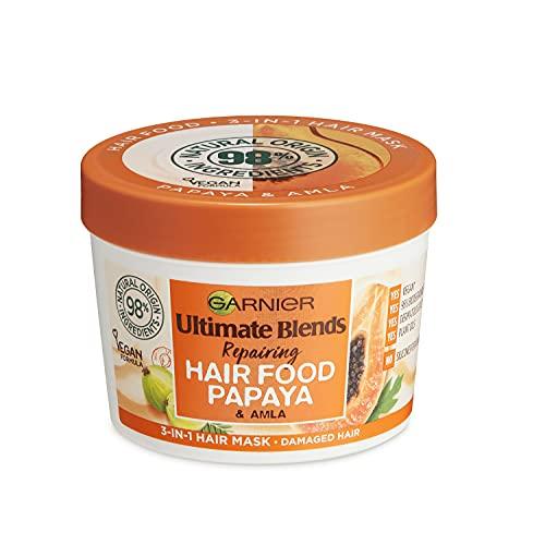 Garnier Ultimate Blends Hair Food Papaya 3-in-1, Repairing Hair Mask, Conditioning Treatment