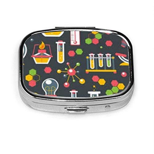 Caja de píldoras cuadrada de moda personalizada de la ciencia de la química de la ciencia de la tableta del sostenedor del bolsillo del organizador