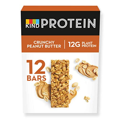 KIND High Protein Bars, Healthy Gluten Free & Low Calorie Snacks, Crunchy Peanut Butter, 12 Bars (Packaging may vary)
