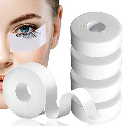 5 Rollen Tape Wimpernverlängerung, Kalolary 2,5cm x 5m Klebeband Wimpernverlängerung, Medizinisches Klebeband, Wimpernklebeband pflanzt für Wimpern Lash Extension