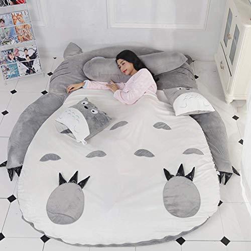 Totoro Tatami Lit De Couchage Double Adulte Et Enfants Pouf Canapé-lit Doux Chaud De Bande Dessinée De Bande Dessinée Totoro Tatami Sac De Couchage Matelas,1.9x1.2m