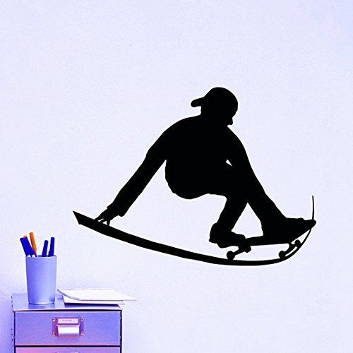zhuziji Finding Dory Wall Stickers Woods, Skater and Skateboard Skating Sports Extreme Sports Series Home Special Painting Wall PVC Househ84x72cm