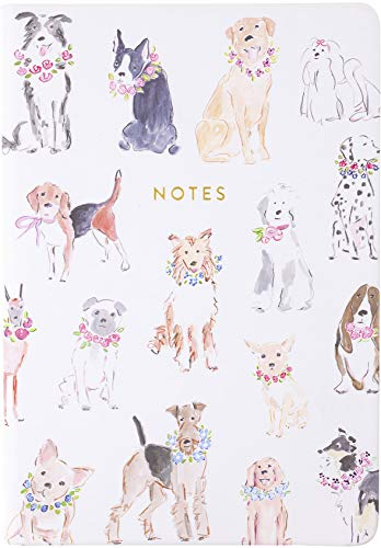 Eccolo World Traveler Style Journal Dogs Notebook, 256 Lined Pages, 6x8 - Designed by Beth Briggs