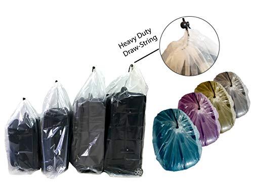 IDEAS PLAS Plastic Storage Bags for Luggage Storage, Pillow Bag, Rug Bag Plastic Drawstring Bags for Suitcase Storage, Attic Storage Bags. Quality Large Plastic Storage Bag 4 Sizes S, M, L and XL