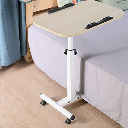 Home Beistelltische Einfacher Laptop-Schreibtisch Fauler Bett-Schreibtisch Desktop Home Einfacher Zusammenklappbarer Beweglicher Nachttisch, BOSS LV, Weiße Ahornfarbe