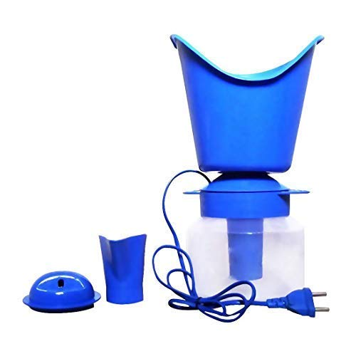 Electric Hot Water Steamer Vaporizer Inhaler Sauna For Cold And Cough For Spa And Face Steam (Random Colour)