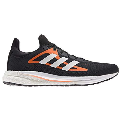 adidas Solar Glide M, Zapatillas para Correr Hombre, Core Black/FTWR White/Screaming Orange, 44 EU