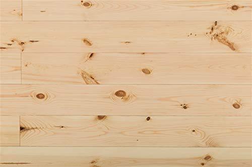 Massivdiele Kiefer, 20 x 137 x 1973 mm, roh, rustikale Sortierung (1,622 m² / Paket)