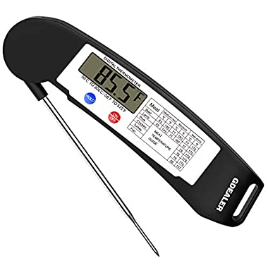GDEALER Instant Read Thermometer Super Fast Digital Electronic Food Thermometer Cooking Thermometer Barbecue Meat Thermometer with Collapsible Internal Probe for Grill Cooking Meat Kitchen Candy